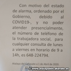 TELÉFONO TRABAJADORA SOCIAL