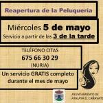REAPERTURA DE LA PELUQUERÍA